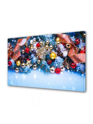 Tablou Canvas Iarna Globuri colorate