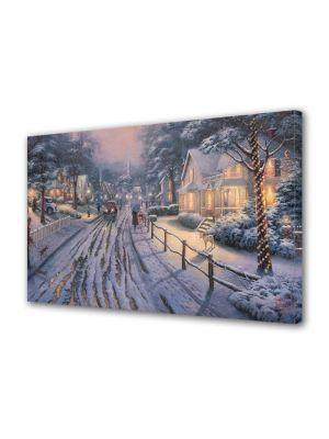 Tablou Canvas Iarna Satul natal de sarbatori