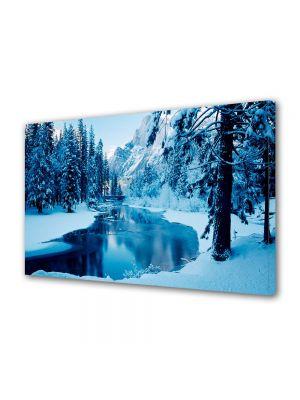 Tablou Canvas Iarna Iarna pe lac