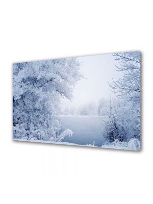 Tablou Canvas Iarna Lacul alb