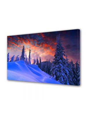 Tablou Canvas Iarna Apusul extraordinar