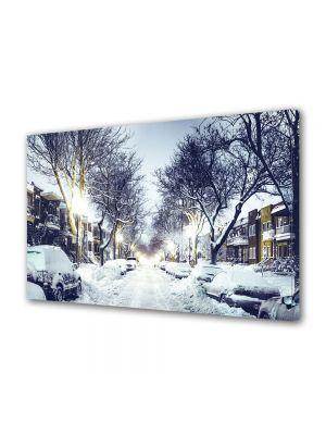 Tablou Canvas Iarna Strada inzapezita