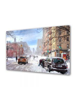 Tablou Canvas Iarna Centrul orasului sub zapada