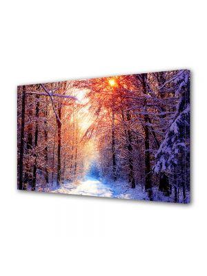 Tablou Canvas Iarna Apus extraordinar