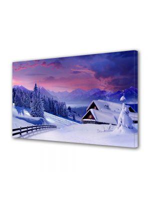 Tablou Canvas Iarna Cabana de poveste