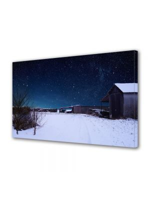 Tablou Canvas Iarna Cer instelat de iarna