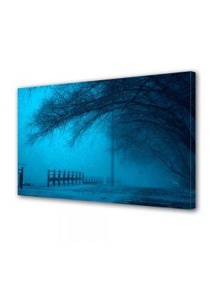 Tablou Canvas Iarna Ceata la amurg