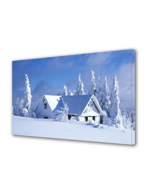 Tablou Canvas Iarna Casa alba