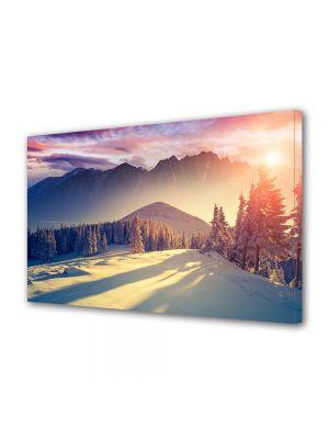 Tablou Canvas Iarna Iarna la apus