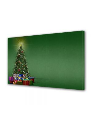 Tablou Canvas Iarna Brad verde de Craciun