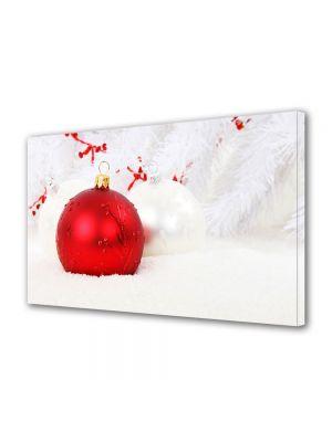 Tablou Canvas Iarna Glob rosu de brad