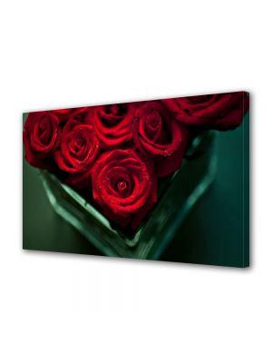 Tablou Canvas Flori Trandafiri rosii in vaza