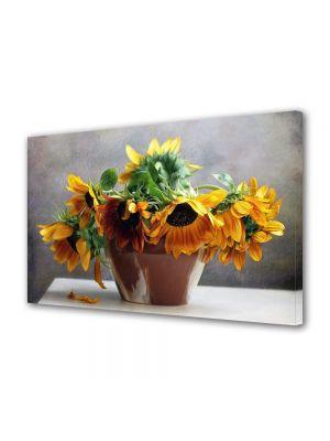 Tablou VarioView MoonLight Fosforescent Luminos in intuneric Flori Floarea soarelui in vaza