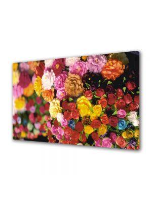 Tablou Canvas Luminos in intuneric VarioView LED Flori Multitudine de culori