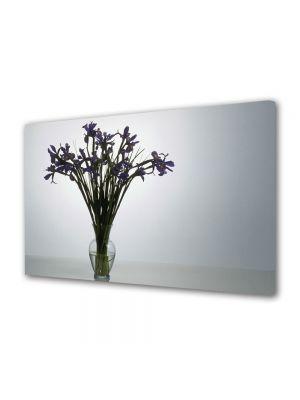 Tablou Canvas Luminos in intuneric VarioView LED Flori Flori violet in vaza