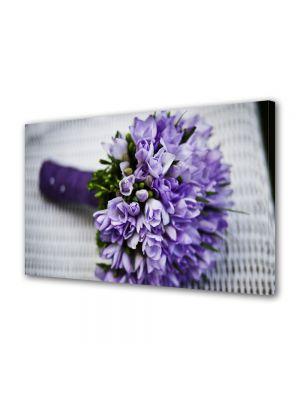 Tablou Canvas Flori Buchet de flori violet