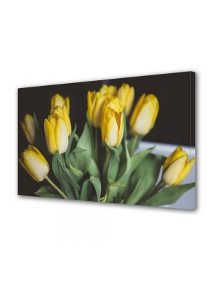 Tablou VarioView MoonLight Fosforescent Luminos in intuneric Flori Buchet lalele galbene