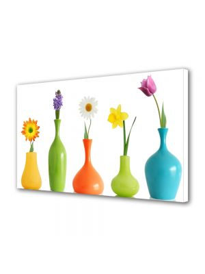 Tablou Canvas Luminos in intuneric VarioView LED Flori Flori in vaza