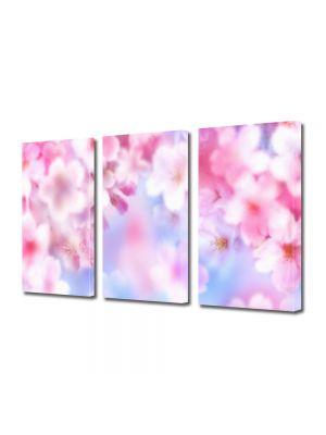 Set Tablouri Multicanvas 3 Piese Flori Proaspat inflorite
