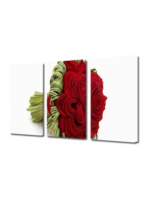 Set Tablouri Multicanvas 3 Piese Flori Buchet de trandafiri