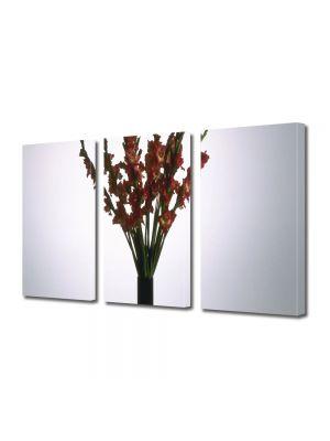 Set Tablouri Multicanvas 3 Piese Flori Flori rosii in vaza
