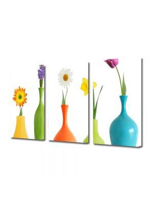 Set Tablouri Multicanvas 3 Piese Flori Flori in vaza