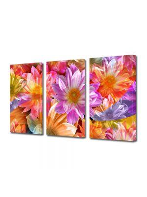 Set Tablouri Multicanvas 3 Piese Flori Flori fantastice