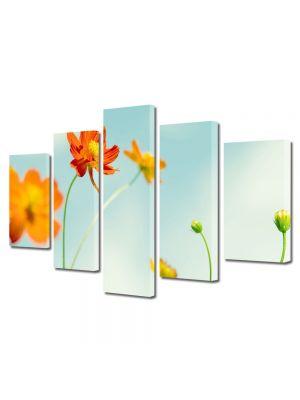 Set Tablouri Multicanvas 5 Piese Flori Flori perfecte