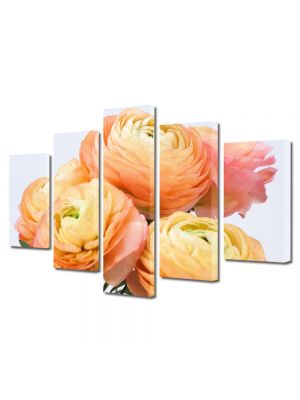 Set Tablouri Multicanvas 5 Piese Flori Flori persane galbene