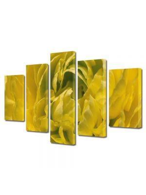Set Tablouri Multicanvas 5 Piese Flori Floare batuta