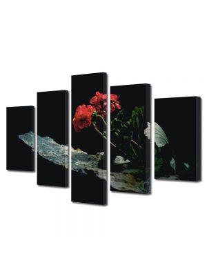 Set Tablouri Multicanvas 5 Piese Flori Inflorite