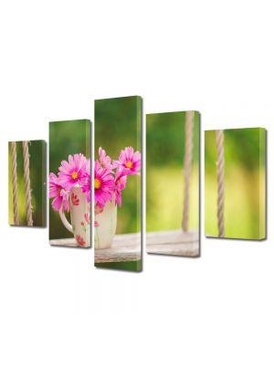 Set Tablouri Multicanvas 5 Piese Flori Flori in leagan