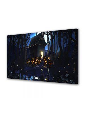 Tablou Canvas Halloween Halloween casa din padure