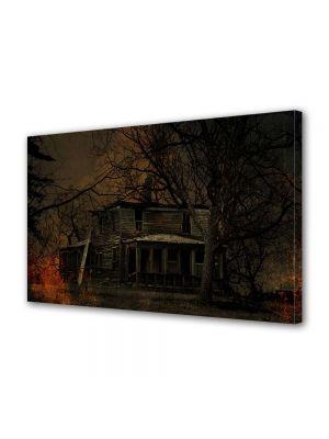 Tablou Canvas Halloween Casa de lemn