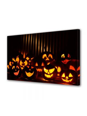 Tablou Canvas Halloween Grup dovleci Halloween zambareti