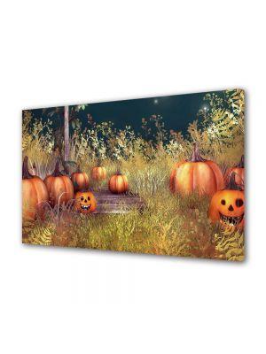 Tablou Canvas Halloween Dovleci pe pajiste