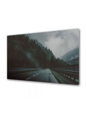 Tablou Canvas Halloween Sosea prin ceata