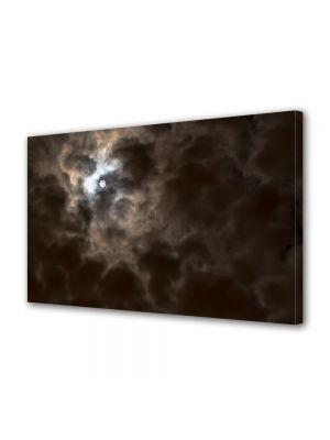 Tablou Canvas Halloween Luna printre nori