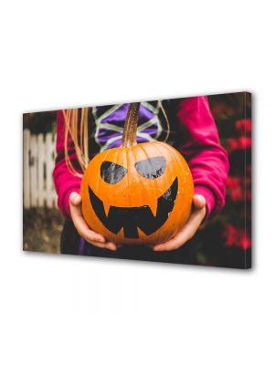 Tablou Canvas Halloween Dovleac pictat Halloween