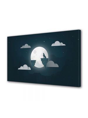 Tablou Canvas Halloween Halloween lup si luna