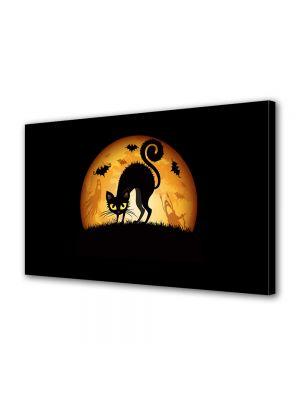 Tablou Canvas Halloween Pisica speriata Halloween
