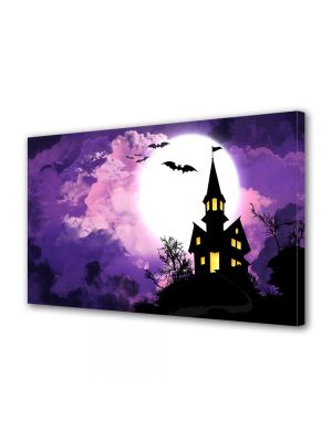 Tablou Canvas Halloween Castel bantuit Halloween