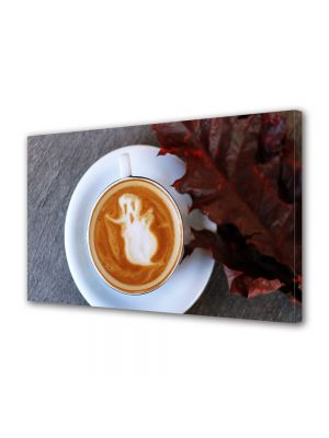 Tablou Canvas Halloween Fantoma in ceasca de cafea