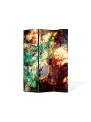 Paravan de Camera ArtDeco din 3 Panouri Abstract Decorativ Spatiu 105 x 150 cm