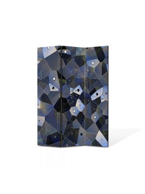 Paravan de Camera ArtDeco din 3 Panouri Abstract Decorativ Ochi 105 x 150 cm