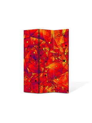 Paravan de Camera ArtDeco din 3 Panouri Abstract Decorativ Aproape de soare 105 x 150 cm