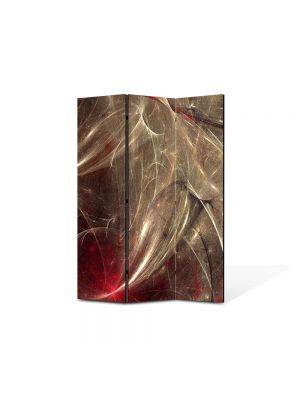 Paravan de Camera ArtDeco din 3 Panouri Abstract Decorativ Aglomeratie 105 x 150 cm
