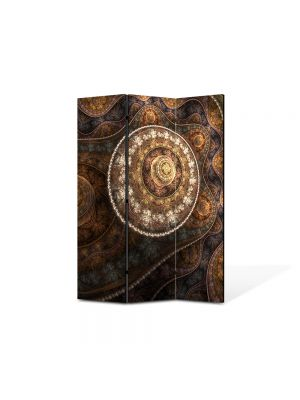 Paravan de Camera ArtDeco din 3 Panouri Abstract Decorativ Vintage 105 x 150 cm