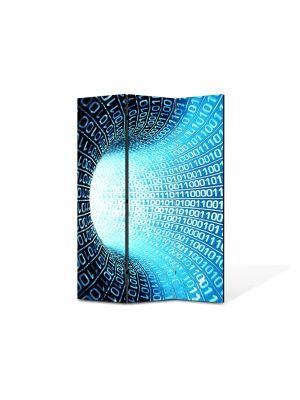 Paravan de Camera ArtDeco din 3 Panouri Abstract Decorativ Informatie 105 x 150 cm