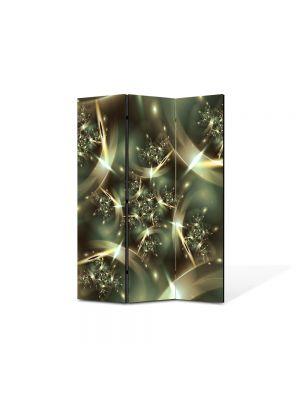 Paravan de Camera ArtDeco din 3 Panouri Abstract Decorativ Spatiu deformat 105 x 150 cm